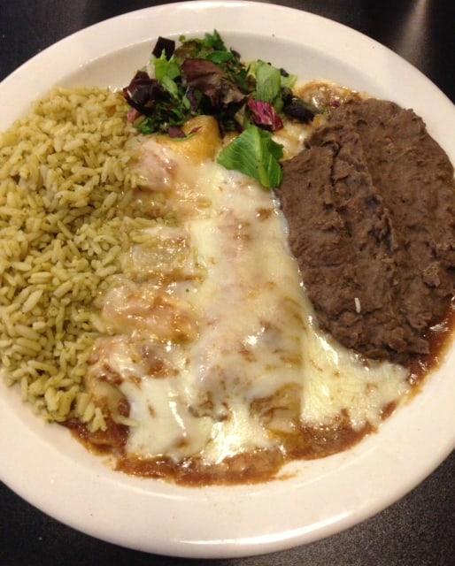 Vegetarian Restaurant Review - Green Vegetarian Cuisine enchiladas