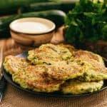 plate of broccoli patties