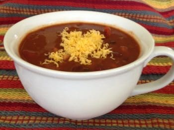 image of bowl of 4-Bean Vegetarian Chili