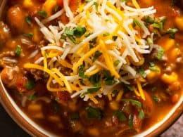 bowl of 4 bean chili