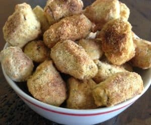 image of a bowl of oven fried okra