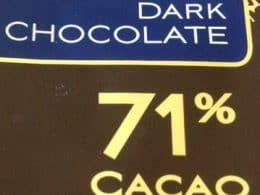71 percent cacao - benefits of chocolate