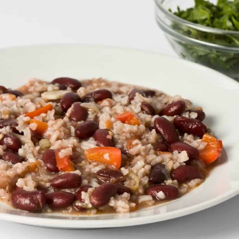 plate of red beans and rice