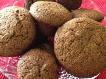 vegan ginger muffins