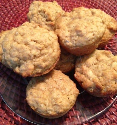 vegan oatmeal muffins