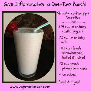 anti-inflammatory strawberry pineapple smoothie