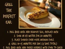 Grilled Corn Recipe http://www.vegetarianzen.com