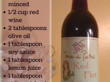 red wine marinade recipe - http://www.vegetarianzen.com