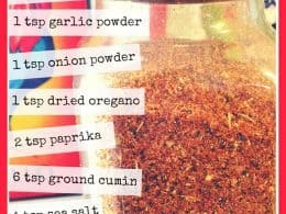 Taco seasoning recipe - www.vegetarianzen.com
