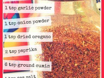 Taco seasoning recipe - www.vegetarianzen.com