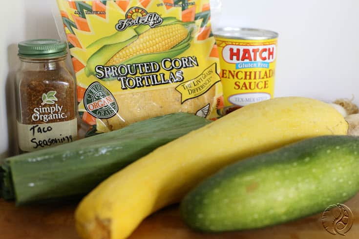 Vegetable Enchiladas ingredients http://www.vegetarianzen.com