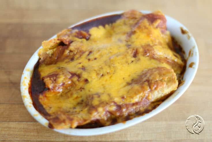 Vegetable Enchiladas plated https://www.vegetarianzen.com