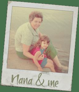 Nana & me - Nana's Molasses Cookies Recipe - http://www.vegetarianzen.com