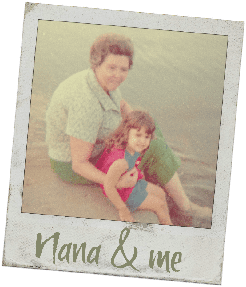 Nana & me - Nana's Molasses Cookies Recipe - http://www.vegetarianzen.com