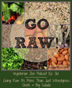 VZ061 - Going Raw: It's More Than Just Wheatgrass Shots and Big Salads http://www,vegetarianzen.com