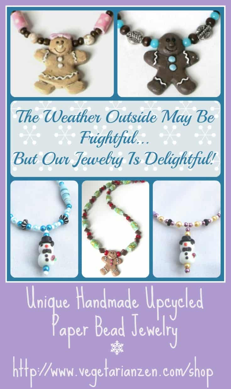 Winter Necklace Collage