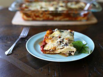 slice of lasagna