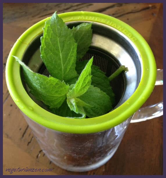 Peppermint tea  http://www.vegetarianzen.com