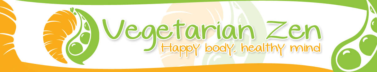 Vegetarian Zen Stylized Header, Vegetarian Zen newsletter https://www.vegetarianzen.com
