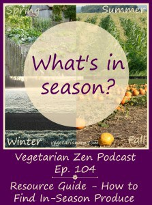 VZ105 - Resource Guide - How to Find In-Season Produce http://www.vegetarianzen.com
