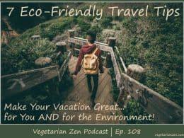 Vegetarian Zen podcast episode 108 - 7 eco-friendly travel tips http://www.vegetarianzen.com