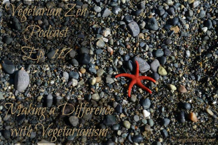 Vegetarian zen podcast episode 117 - making a difference with vegetarianism http://www.vegetarianzen.com