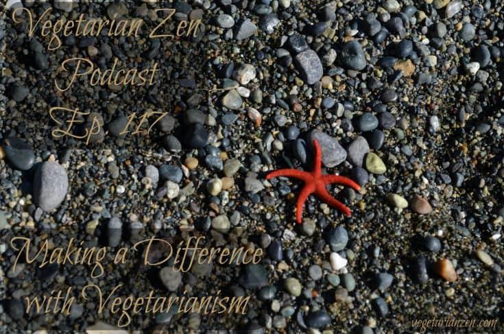 Vegetarian zen podcast episode 117 - making a difference with vegetarianism http://www.vegetarianzen.com