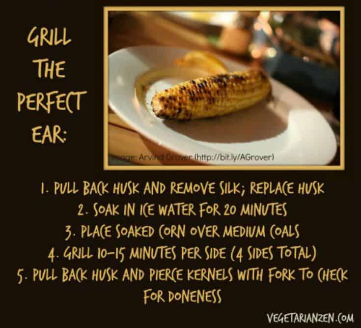 grilled corn https://www.vegetarianzen.com