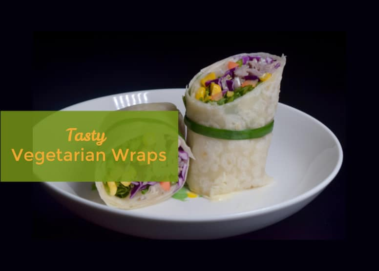 vegetarian wrap on a plate