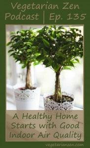 Vegetarian zen podcast episode 135 - A Healthy Home Starts with Good Indoor Air Quality http://www.vegetarianzen.com