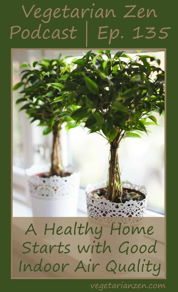 Vegetarian zen podcast episode 135 - A Healthy Home Starts with Good Indoor Air Quality https://www.vegetarianzen.com