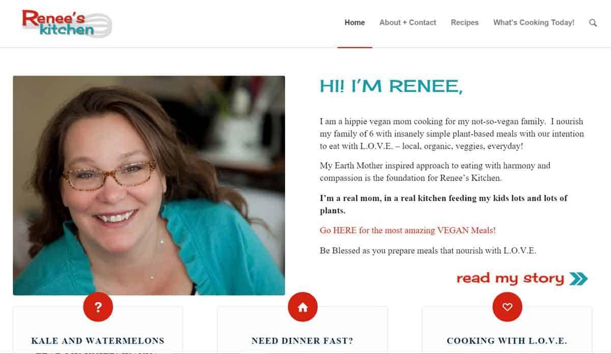 Our chat with renee baude of renee 39 s kitchen vegetarian zen for Renee s kitchen