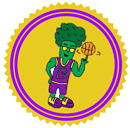 Broccoli Badass Patreon badge http://www.vegetarianzen.com