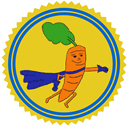Carrot Crusader Patreon badge http://www.vegetarianzen.com