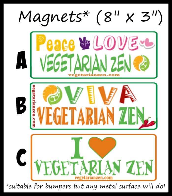 Vegetarian Zen magnets https://www.vegetarianzen.com