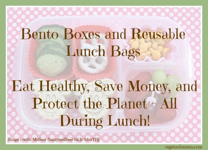 Bento boxes and reusable lunch bags http://www.vegetarianzen.com