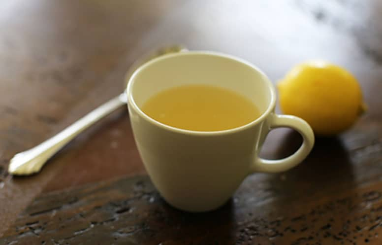 hot lemonade for cough