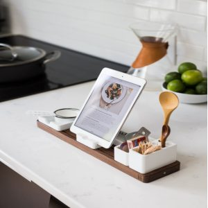 tablet in kitchen with recipe