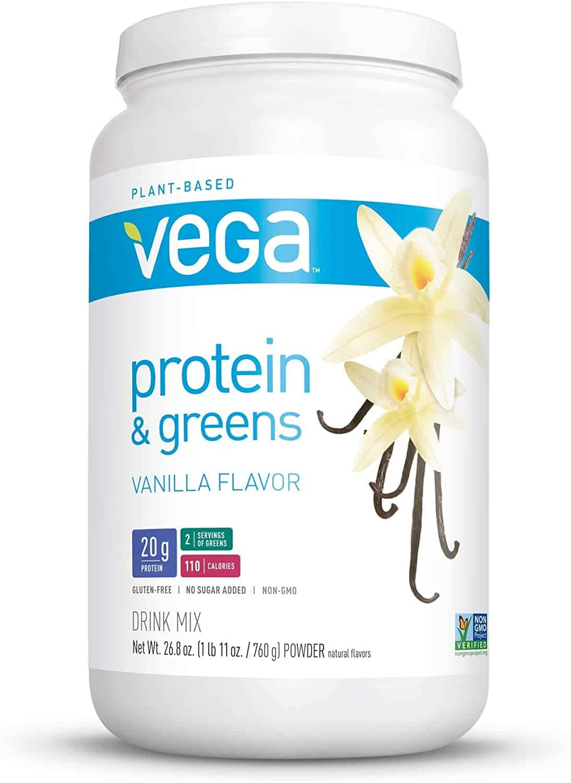 Vega Protein and Greens Vanilla Vegan Plant Based Protein Powder