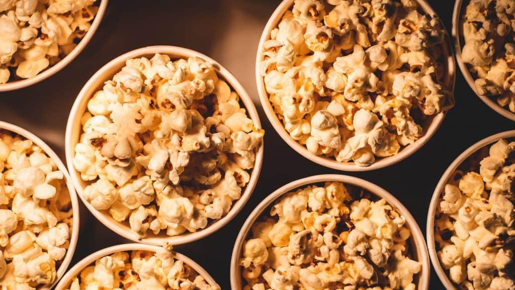 popcorn is one of many vegan snacks