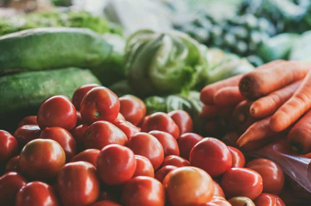 bunch of summer fruits and vegetables