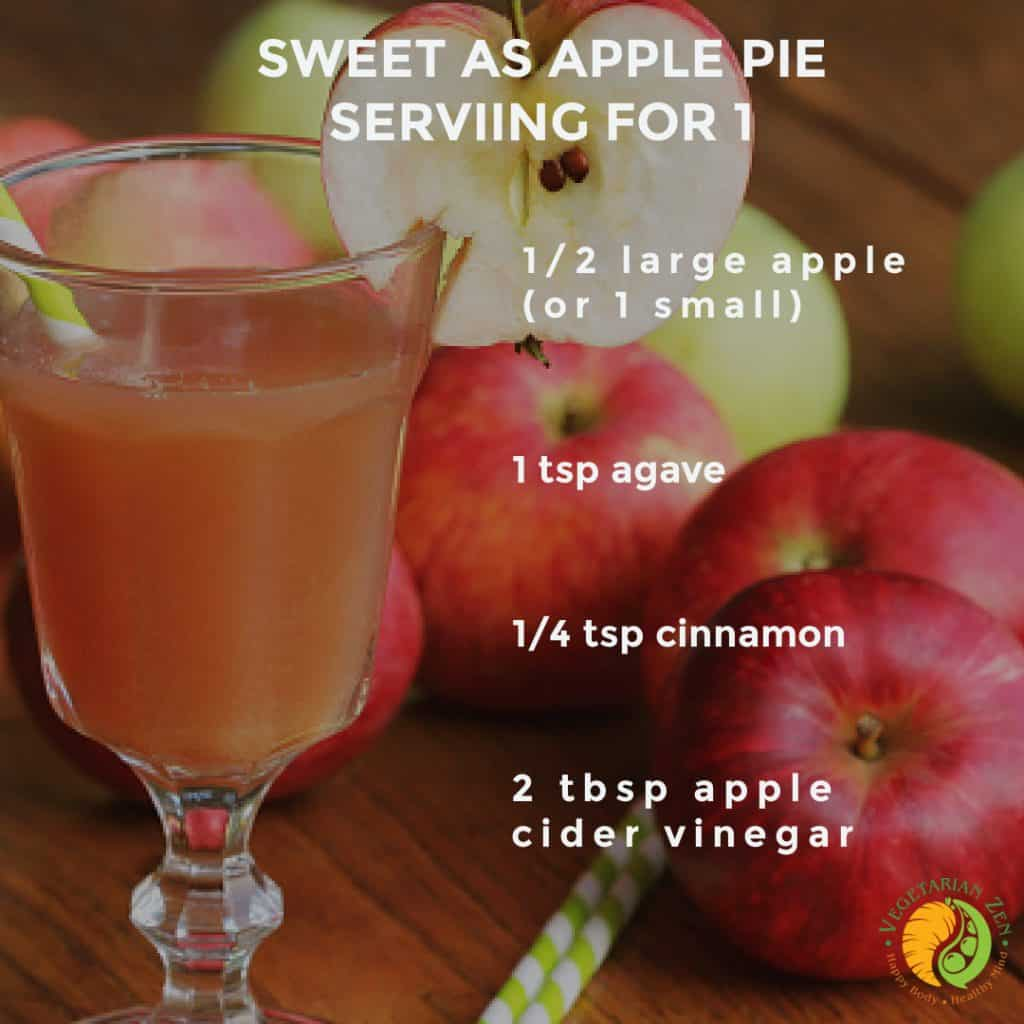 sweet as apple pie wellness shot