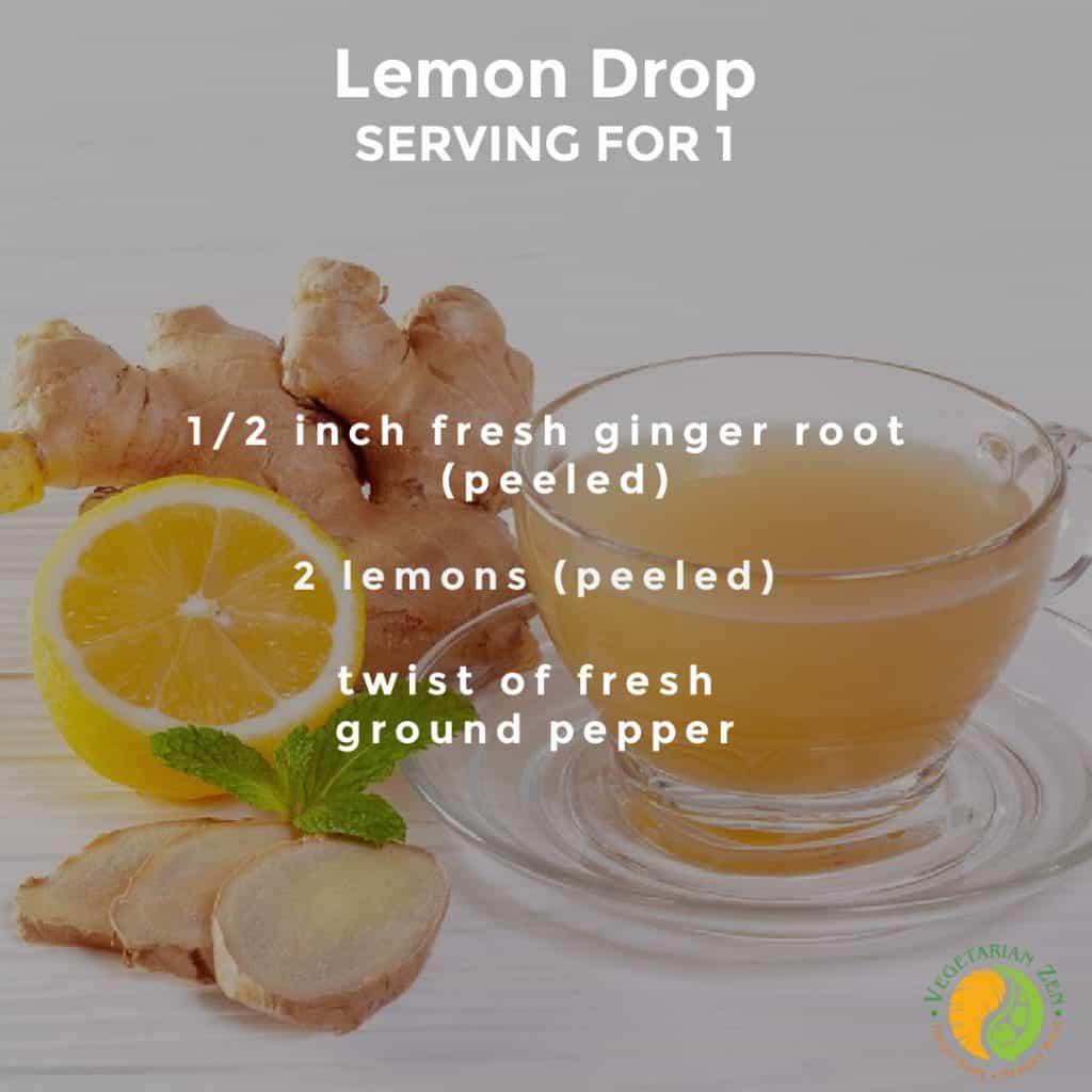 lemon drop wellness shot