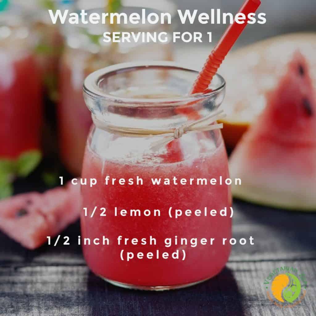 watermelon wellness shot