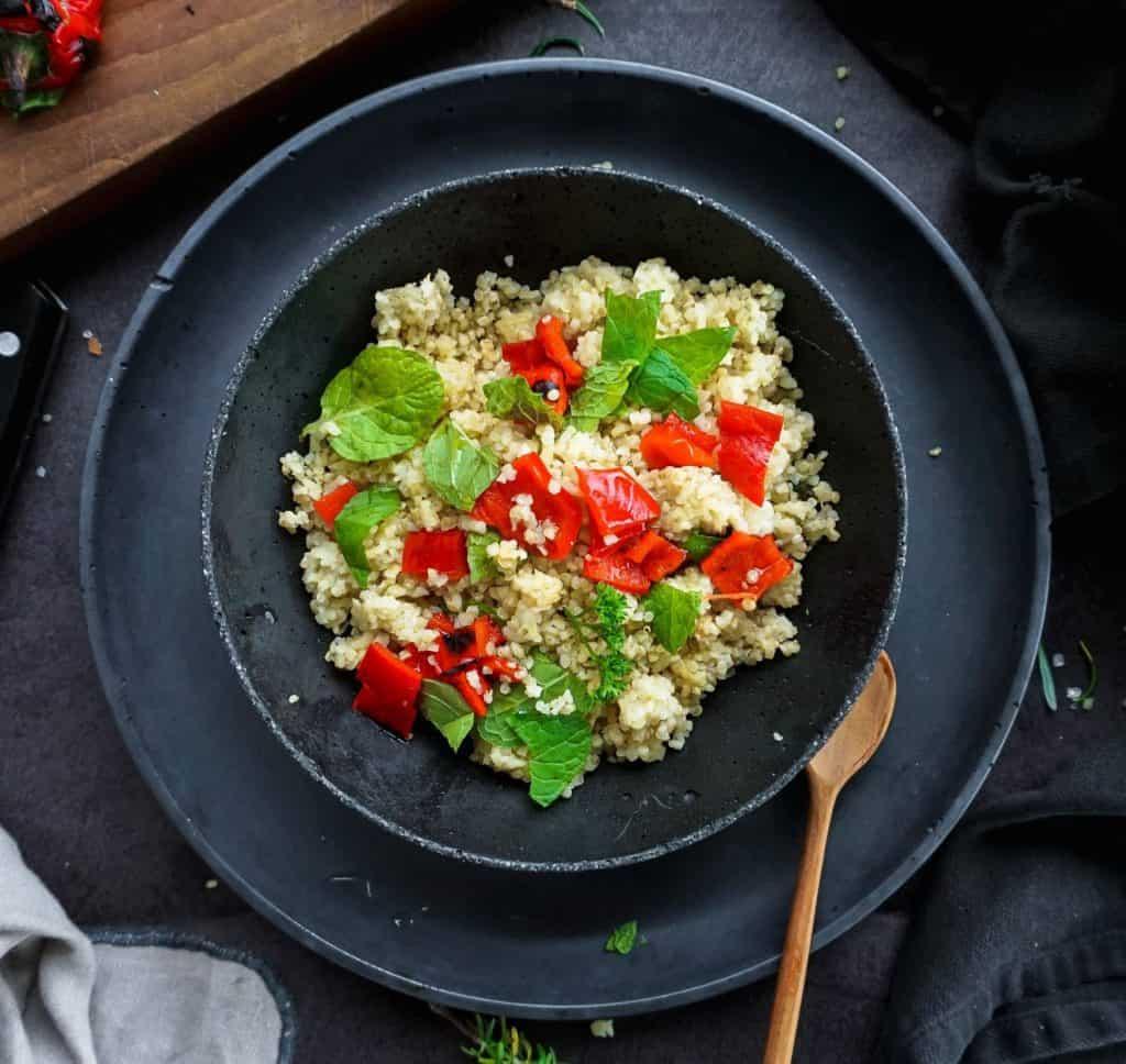 quinoa is gluten-free vegan dish