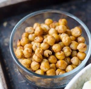 chickpeas used for simple vegan tuna salad recipe