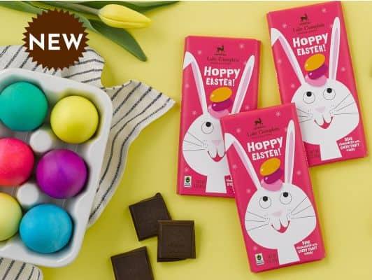 Hoppy Easter Chocolate Candy Bar   Lake Champlain Chocolates