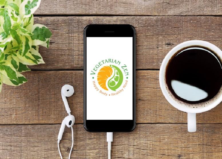 vegetarian zen podcast on iphone