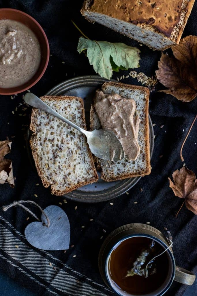 bread with nut butters